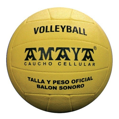 Sonorous cellular rubber volley ball