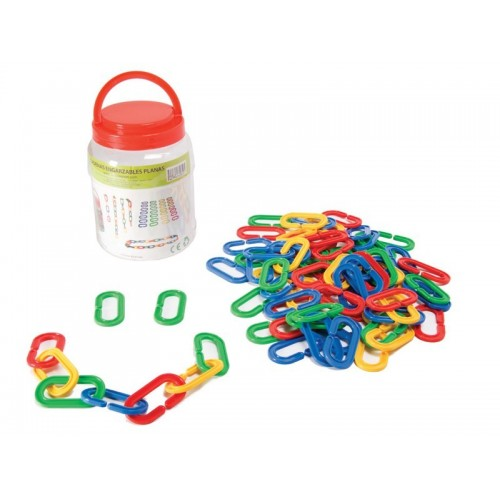 Hooked flat chains. Set 80 pieces
