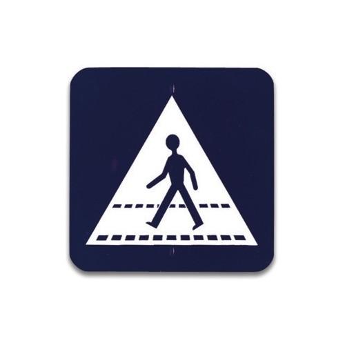 Traffic panel- Pedestrian crossing ahead