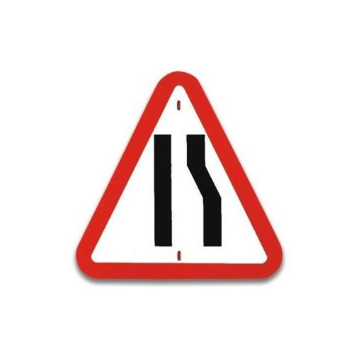 Traffic panel- Road Narrows