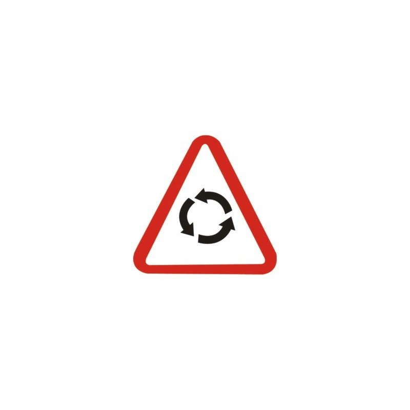 Traffic panel - Caution roundabout