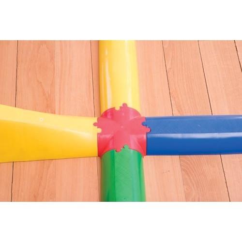 Cruz de unión pasillo semicircular.