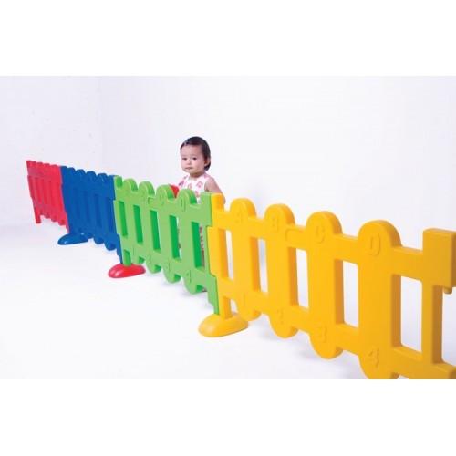 Wall mount gate set for nursery.