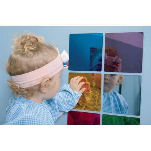 Acrylic Coloured Mirrors, Set 6 Pieces