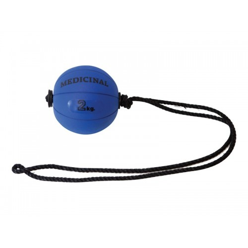 Cellular medicine ball with rope