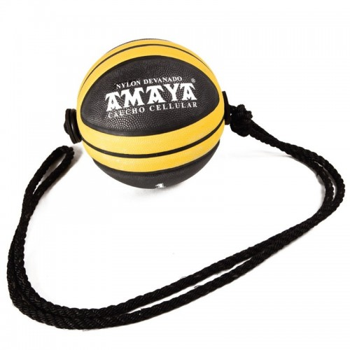 Cellular rubber medicine ball with rope