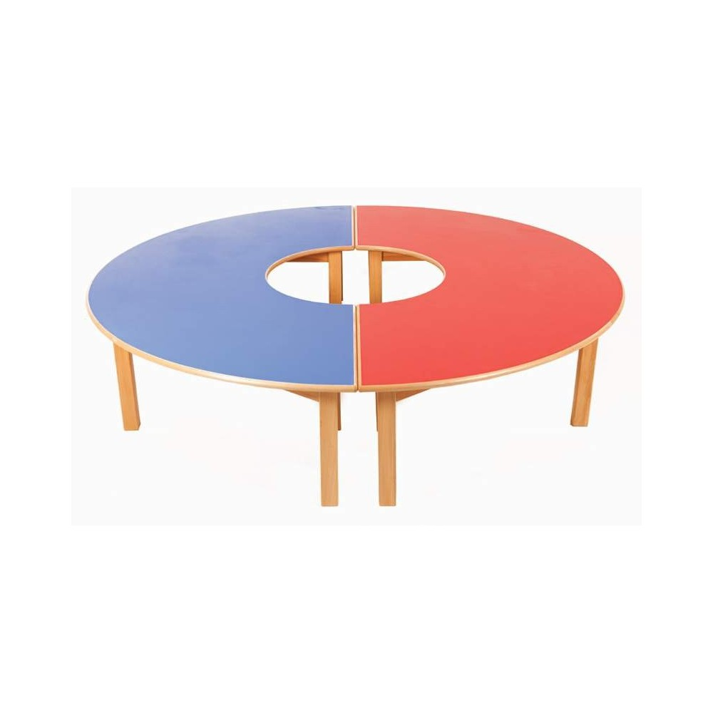 Horseshoe table of wood for Table of tables