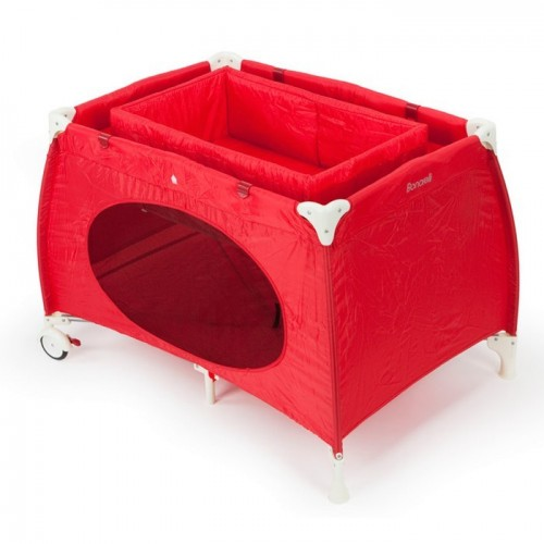 Play pen with cradle