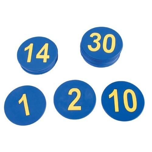 Números de Caucho Del 1 Al 30.