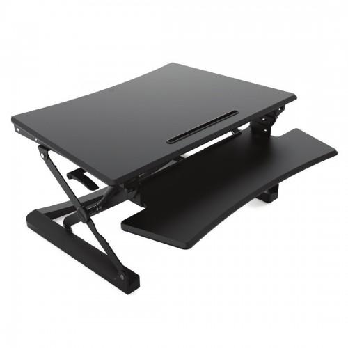 Sit-stand desktop workstation