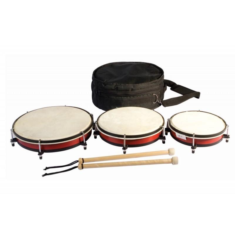 Set Of 3 Drums In A Bag.