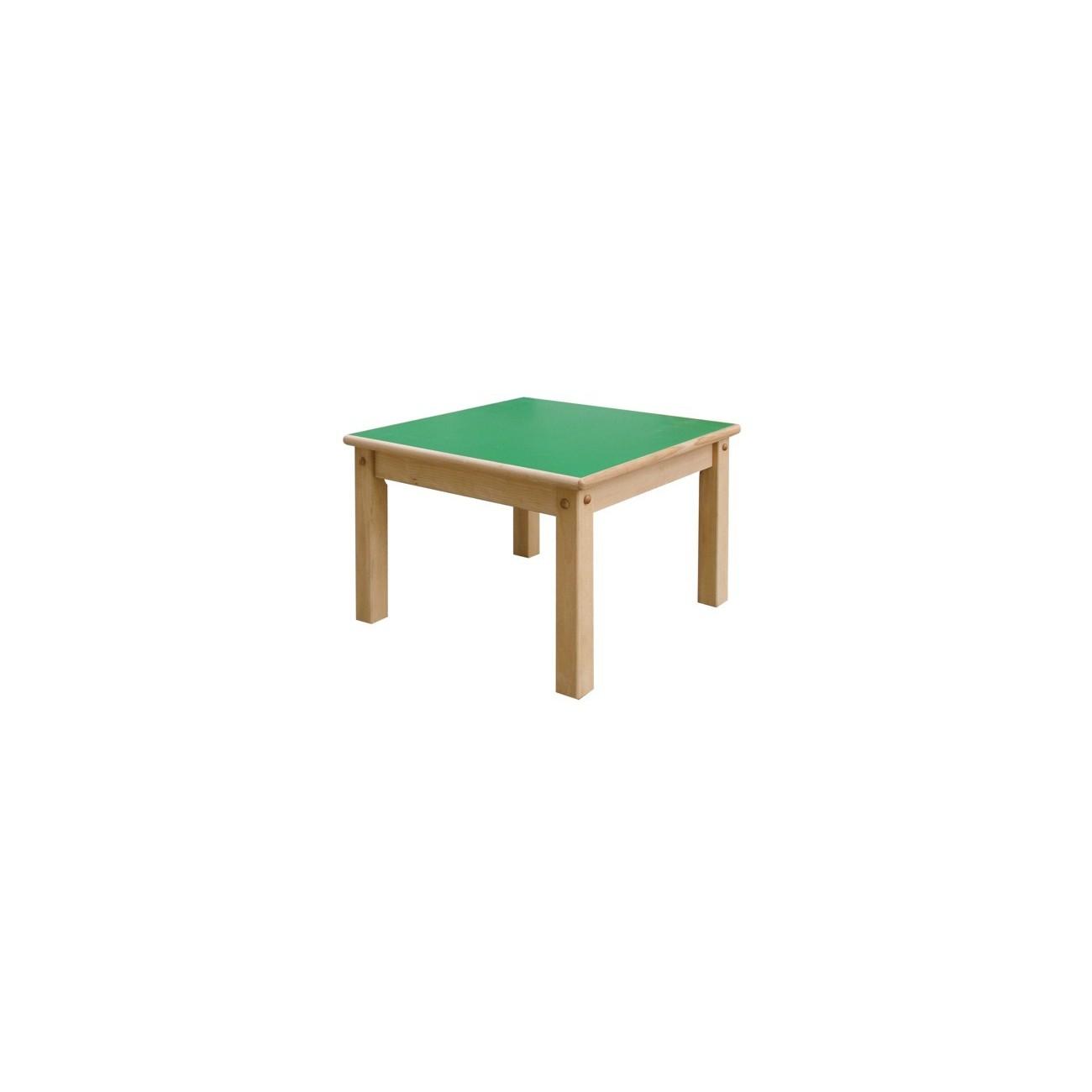 mesa de madera modelo 1 cuadrada
