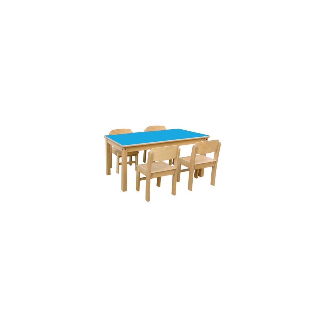 Mesa de madera modelo 2 rectangular for Mesas esquineras de madera