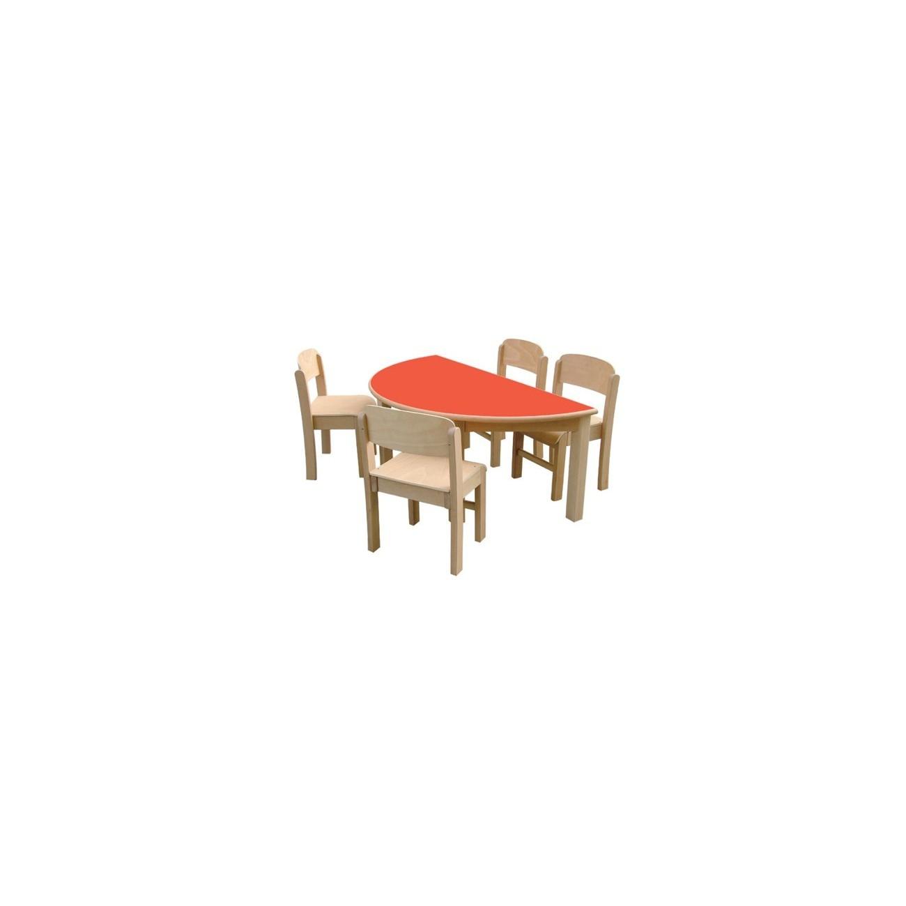 Mesa de madera modelo 3 semic rculo for Modelos de mesas de madera