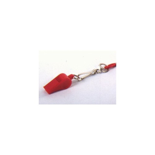 Plastic Whistle With Rope In Skin Pack