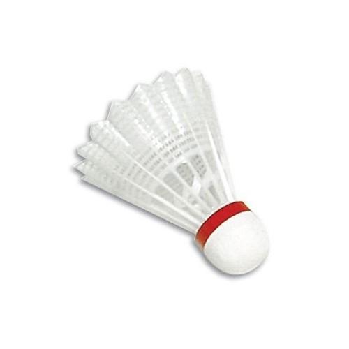 Volante de badminton de vinilo. Color rojo. Velocidad rápida.