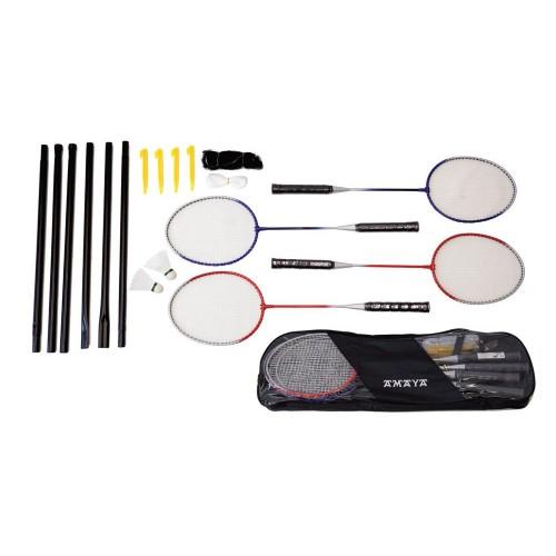 Badmington Rackets , Poles, Net, Shuttlecock And Bag