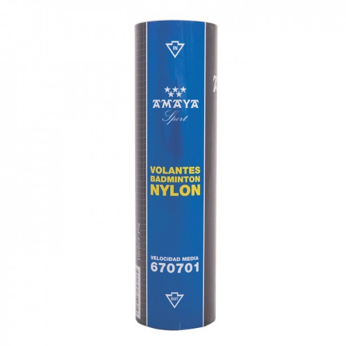 Vynil badminton shutlecock. Blue colour. Medium speed.
