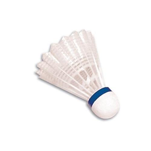Volante de badminton de vinilo. Color azul. Velocidad media.