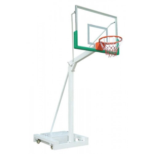Basketball system portable set with tempered glass backboards