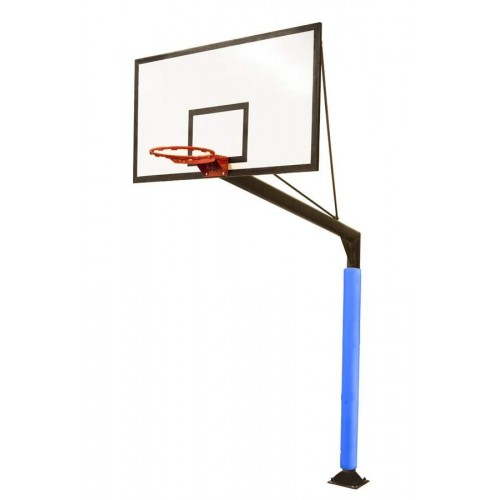 Minibasketball fixed set with tempered glass backboards