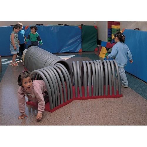 Túnel especial de adaptación, arcos flexibles.