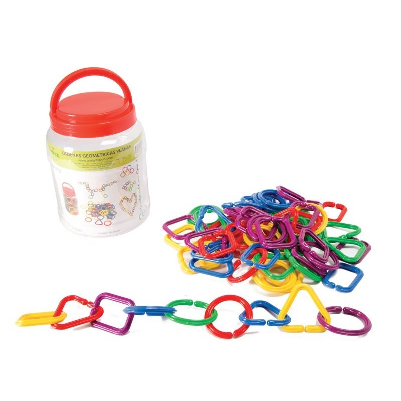 Hooked geometric chains. Set 60 pieces