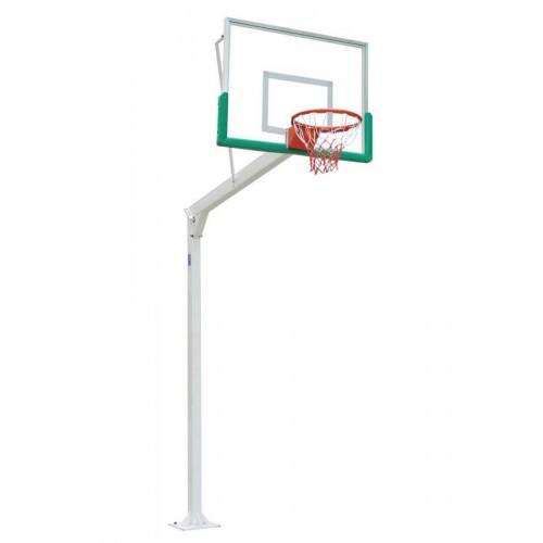 Juego de canastas basket con tableros de cristal templado, aros basculantes y redes