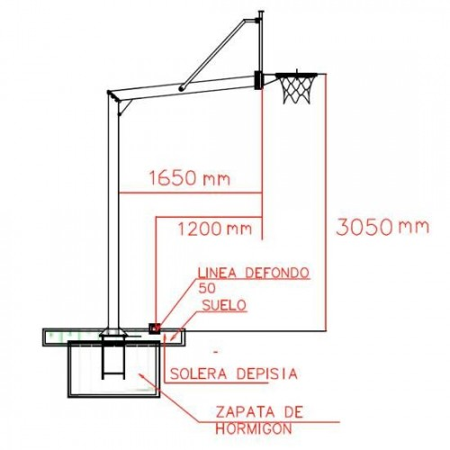 Basketball set with tempered glass backboards, hoop and nets