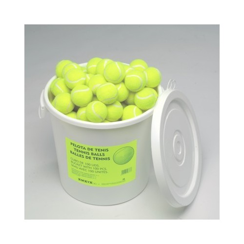 Cubo pelotas tenis baja presión. (100 u.)