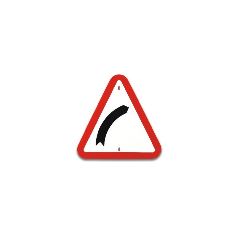 Traffic panel- Bend to right