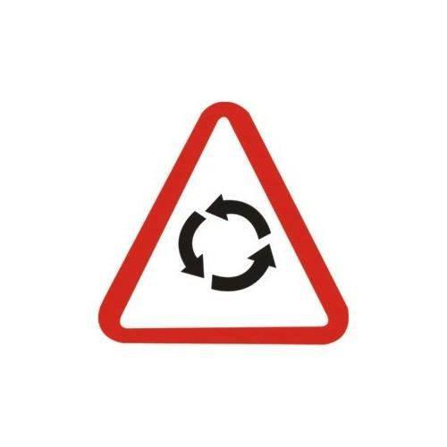 Traffic panel - Caution roundabout