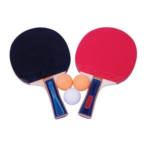 Set 2 tennis table rackets M1002 1 star + 3 initiating balls.