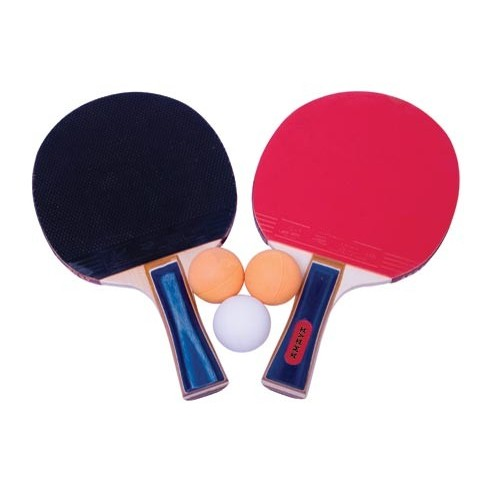 Set 2 tennis table rackets M1002 1 star + 3 initiating balls.