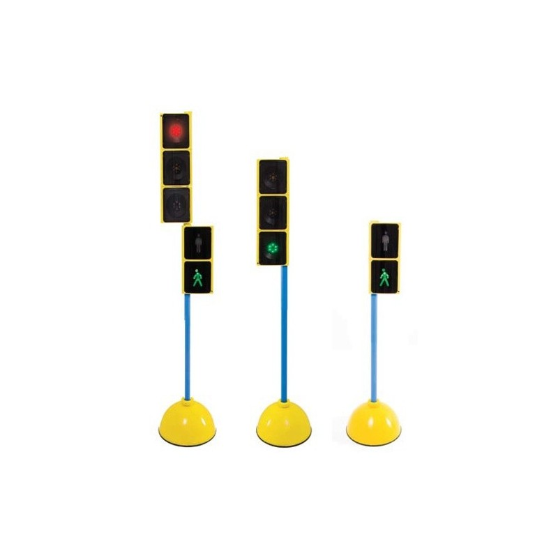 Traffic lights- Set for vehicles and walkers. With base and stick