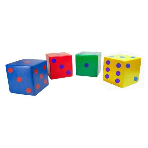 Coated foam dice 20 x 20 cm