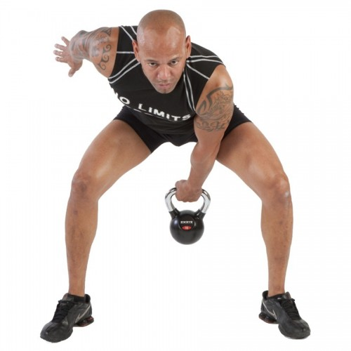 Rubber Kettlebell with chroming handle