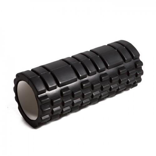 Black Pilates Roller-Grooved
