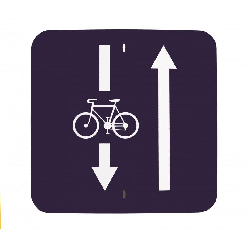 Traffic panel - Two way cycling transit