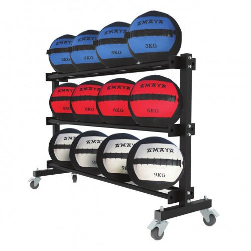 Mobile shelving for medicine balls (3 Floors)