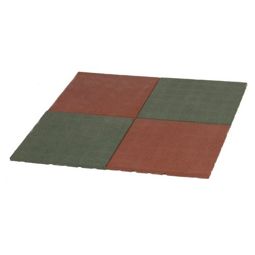 Rubber Floor Tiles Set of 4 Tiles 50 x 50 x 2,5 cm