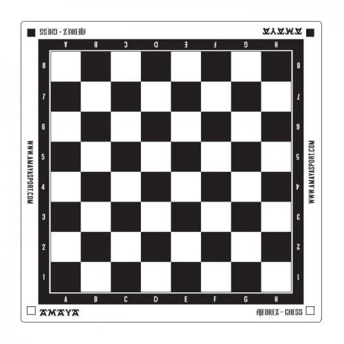 Tablero ajedrez plástico