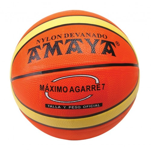 Basketball two-colored rubber