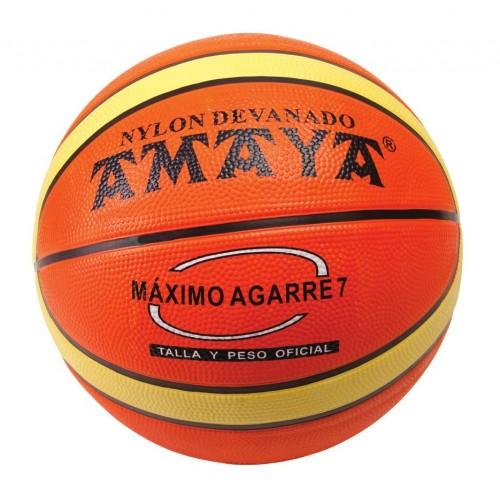 Balón basket bicolor caucho