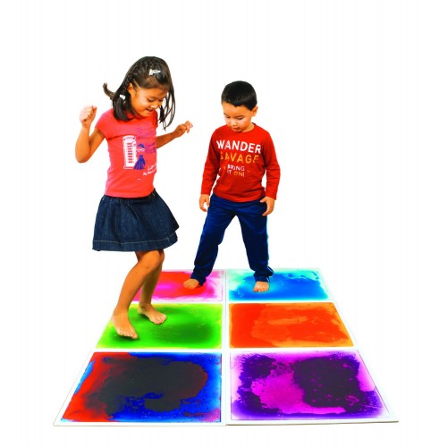 Small sensory liquid floor tiles
