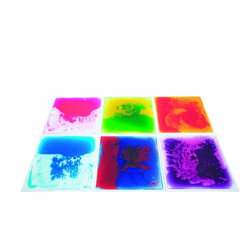 Small sensory liquid floor tiles