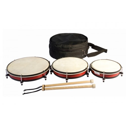 Set Of 3 Drums In A Bag.
