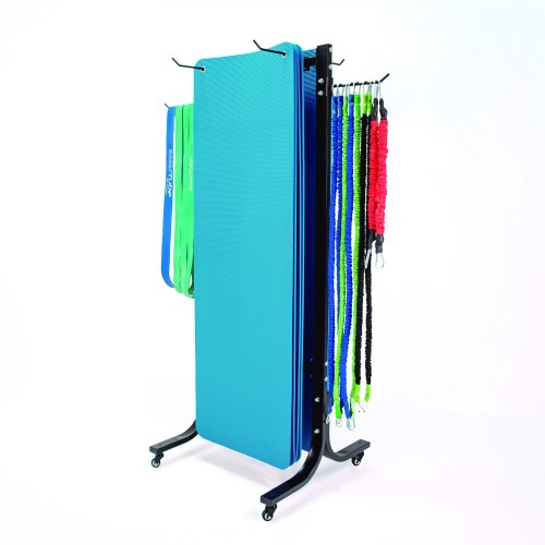 DOUBLE RACK FOR MAT WITH WHEELS