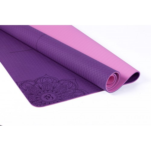 KING SIZE TWO-TONE T.P.E. YOGA MAT
