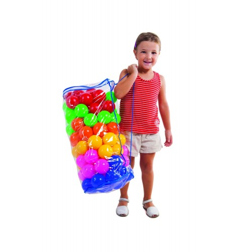 Pelota Llenado de Piscina- Colores Surtidos en bolsa con 100 Unidades